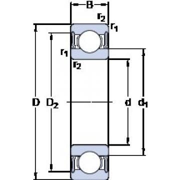 70 mm x 100 mm x 16 mm  SKF 61914-2RS1 deep groove ball bearings