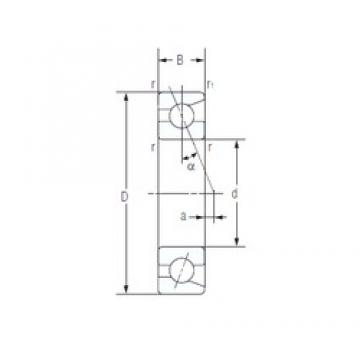 90 mm x 140 mm x 24 mm  NACHI 7018C angular contact ball bearings