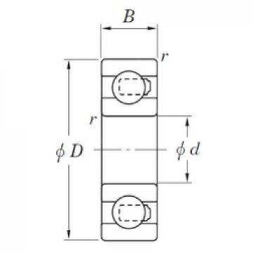 15 mm x 35 mm x 11 mm  KOYO NC6202 deep groove ball bearings