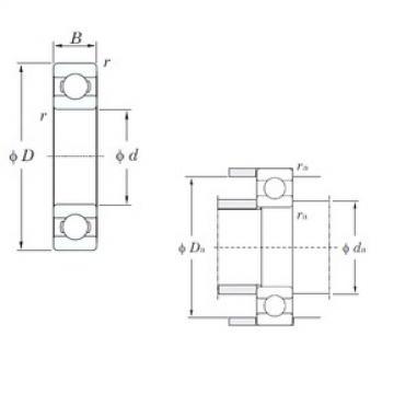 90 mm x 140 mm x 24 mm  KOYO 6018 deep groove ball bearings
