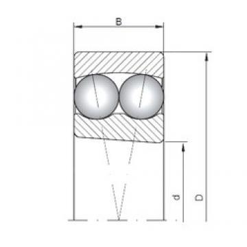 75 mm x 130 mm x 25 mm  Loyal 1215K self aligning ball bearings