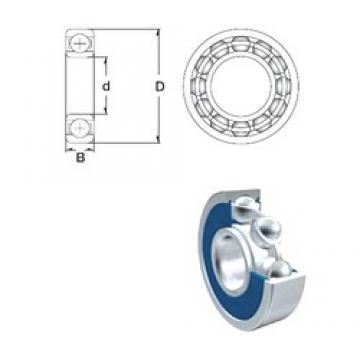 15 mm x 35 mm x 11 mm  ZEN 6202-2RS deep groove ball bearings
