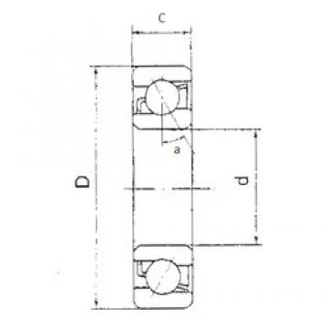 15 mm x 35 mm x 11 mm  FBJ 7202B angular contact ball bearings