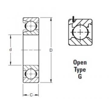 75 mm x 130 mm x 25 mm  Timken 215WG deep groove ball bearings