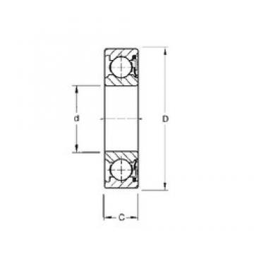 75 mm x 130 mm x 25 mm  Timken 215P deep groove ball bearings