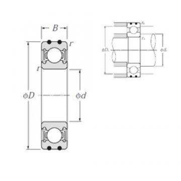 15 mm x 35 mm x 11 mm  NTN AC-6202LLU deep groove ball bearings