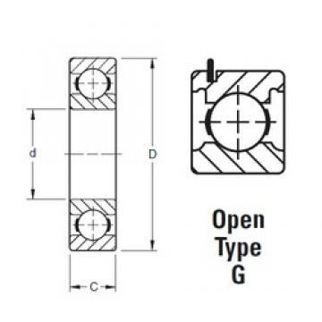 15 mm x 35 mm x 11 mm  Timken 202KG deep groove ball bearings