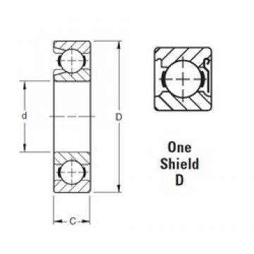 75 mm x 130 mm x 25 mm  Timken 215WD deep groove ball bearings