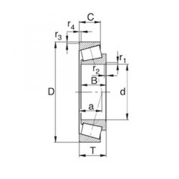 35 mm x 80 mm x 21 mm  KBC 30307C tapered roller bearings