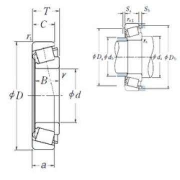 35 mm x 80 mm x 21 mm  NSK HR30307C tapered roller bearings