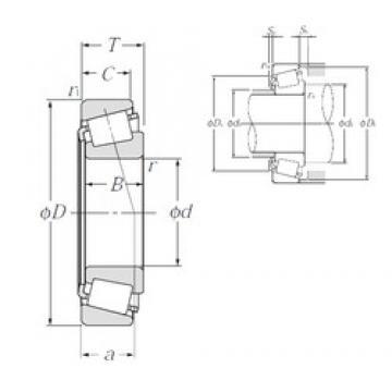35 mm x 80 mm x 21 mm  NTN 4T-30307D tapered roller bearings