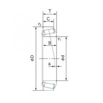 60 mm x 130 mm x 31 mm  NACHI E30312J tapered roller bearings