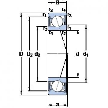 70 mm x 100 mm x 16 mm  SKF S71914 ACE/HCP4A angular contact ball bearings