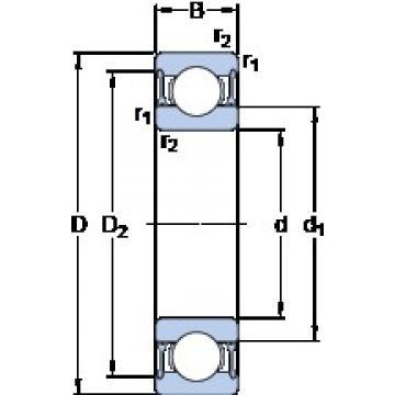 70 mm x 100 mm x 16 mm  SKF 61914-2RZ deep groove ball bearings