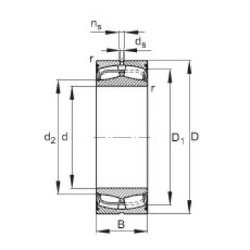 120 mm x 180 mm x 60 mm  FAG 24024-E1-2VSR spherical roller bearings
