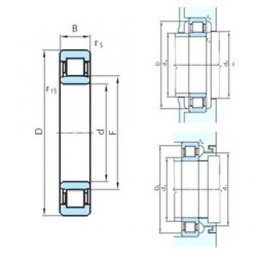 200 mm x 310 mm x 51 mm  PSL NU1040 cylindrical roller bearings