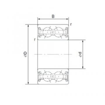 35 mm x 55 mm x 20 mm  NTN 2TS2-DF0719LLX2CS35/L417 angular contact ball bearings