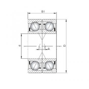 Loyal 71907 C-UX angular contact ball bearings