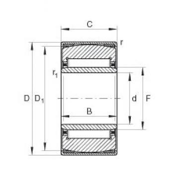 35 mm x 55 mm x 20 mm  INA PNA35/55 needle roller bearings