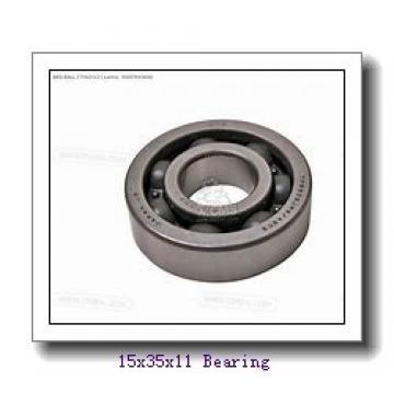 15 mm x 35 mm x 11 mm  Loyal 6202 deep groove ball bearings