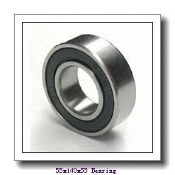 55,000 mm x 140,000 mm x 33,000 mm  NTN 7411B angular contact ball bearings
