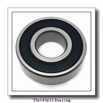 55 mm x 140 mm x 33 mm  NTN NU411 cylindrical roller bearings