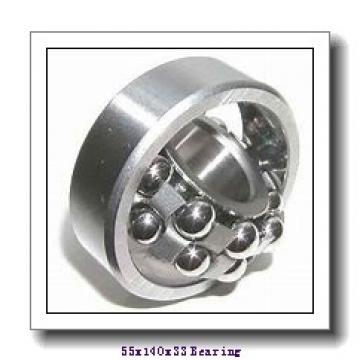 55 mm x 140 mm x 33 mm  NKE NUP411-M cylindrical roller bearings