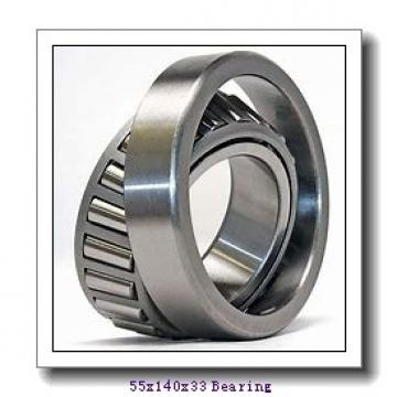55 mm x 140 mm x 33 mm  Loyal 7411 B angular contact ball bearings