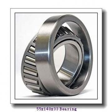 55 mm x 140 mm x 33 mm  NKE NJ411-M+HJ411 cylindrical roller bearings