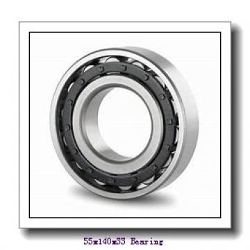 55 mm x 140 mm x 33 mm  Loyal NF411 cylindrical roller bearings