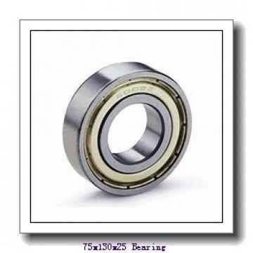 75 mm x 130 mm x 25 mm  NKE 7215-BE-MP angular contact ball bearings