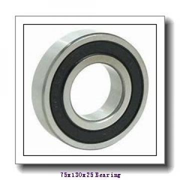 75 mm x 130 mm x 25 mm  NKE QJ215-MPA angular contact ball bearings