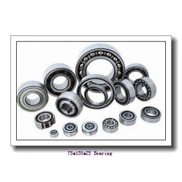 75 mm x 130 mm x 25 mm  KOYO 6215N deep groove ball bearings