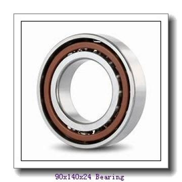 90 mm x 140 mm x 24 mm  KOYO 7018 angular contact ball bearings