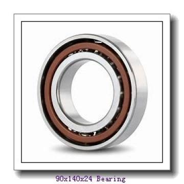 90 mm x 140 mm x 24 mm  KOYO 7018CPA angular contact ball bearings