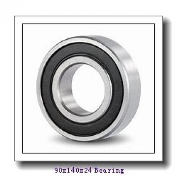 90 mm x 140 mm x 24 mm  NSK 6018NR deep groove ball bearings