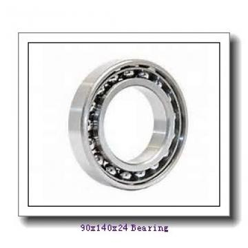 90 mm x 140 mm x 24 mm  NTN 7018DT angular contact ball bearings