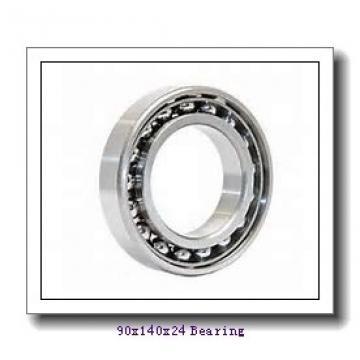 90 mm x 140 mm x 24 mm  SNR 7018HVUJ74 angular contact ball bearings