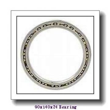 90 mm x 140 mm x 24 mm  NACHI 7018CDB angular contact ball bearings