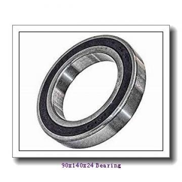 90 mm x 140 mm x 24 mm  NACHI 7018AC angular contact ball bearings