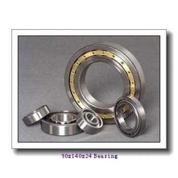 90 mm x 140 mm x 24 mm  NACHI 6018NR deep groove ball bearings