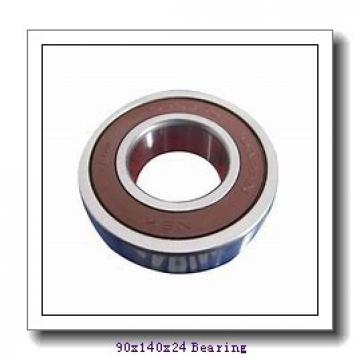 90 mm x 140 mm x 24 mm  Loyal NJ1018 cylindrical roller bearings