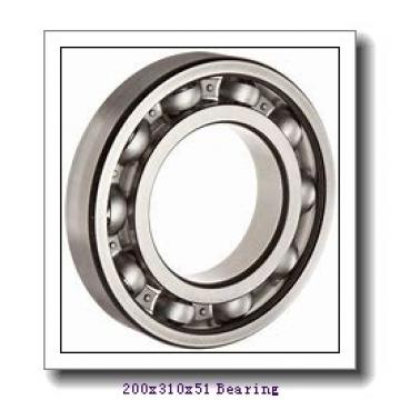 200 mm x 310 mm x 51 mm  NACHI 7040CDF angular contact ball bearings
