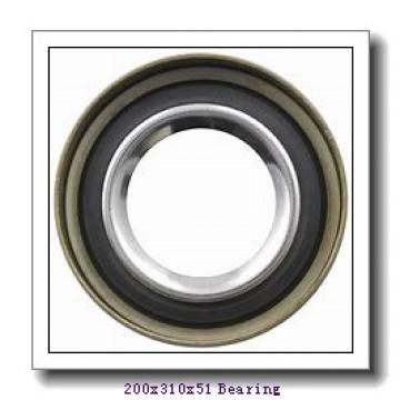 200 mm x 310 mm x 51 mm  ISO 7040 C angular contact ball bearings