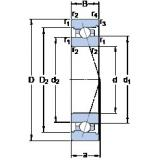 70 mm x 100 mm x 16 mm  SKF 71914 ACB/P4A angular contact ball bearings