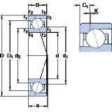 70 mm x 100 mm x 16 mm  SKF 71914 CE/HCP4AH1 angular contact ball bearings