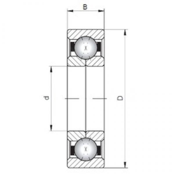 ISO QJ1040 angular contact ball bearings #2 image