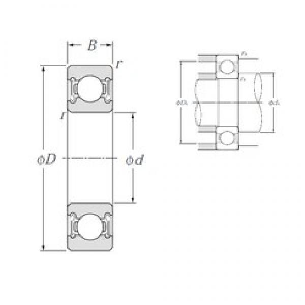 90 mm x 140 mm x 24 mm  NTN 6018LLB deep groove ball bearings #2 image