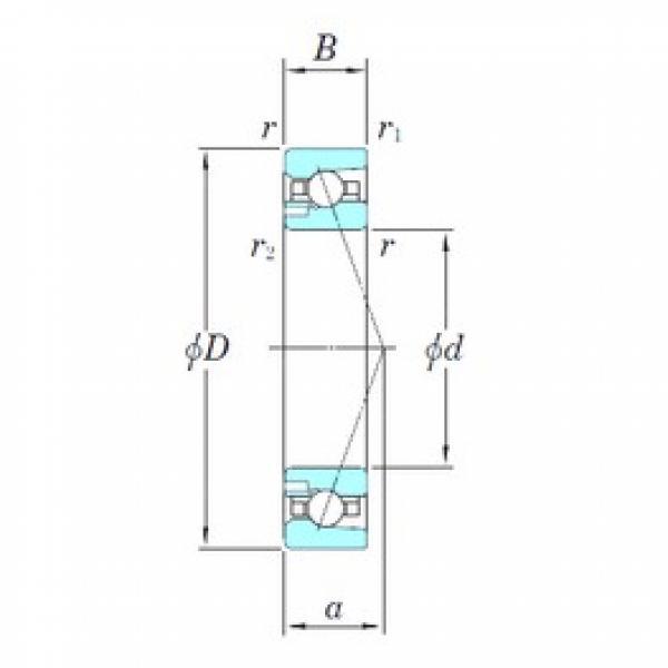 90 mm x 140 mm x 24 mm  KOYO 3NCHAD018CA angular contact ball bearings #2 image