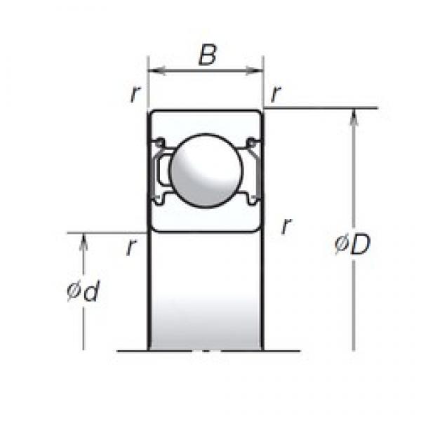 15 mm x 35 mm x 11 mm  NSK 6202T1XZZ deep groove ball bearings #2 image